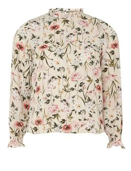 petite-blush-print-high-neck-top by dorothy-perkins