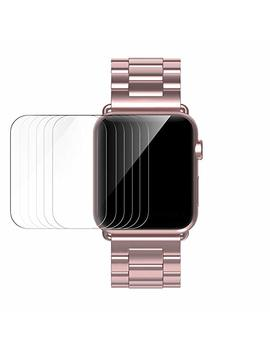 [6-pack]-simpeak-apple-watch-42mm-screen-protector,-clear-hd-film-for-apple-watch-42mm-series-1-2-3 by amazon