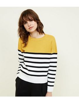 yellow-stripe-colour-block-jumper by new-look