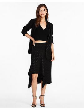 high-waisted-polka-dot-jacquard-pencil-skirt by express