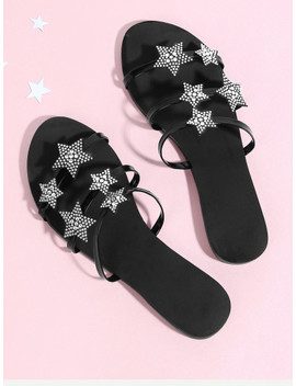 star-decorated-flat-sandals by sheinside