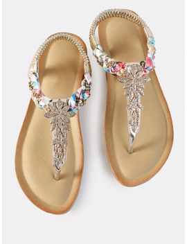 multi-braid-embellished-thong-sandals-gold by sheinside