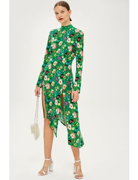 floral-chuck-on-midi-dress by topshop