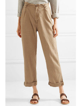 the-explorer-twill-high-rise-straight-leg-pants by the-great