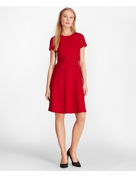 Wool Blend Twill A Line Dress by Brooks Brothers