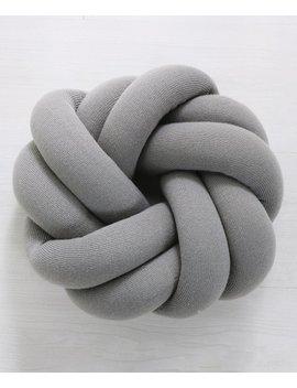 dark-gray-annular-knot-throw-pillow by ruji