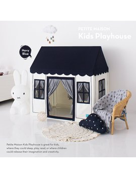 petite-maison-kids-play-house-tent,-hand-made-premium-quality-playhouse-for-indoor-&-outdoor,-light,-easy-assembly---navy-blue by petite-maison