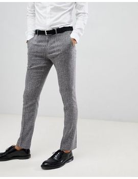 farah-skinny-trousers-in-grey-cross-hatch by farah