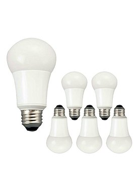 tcp-9w-led-light-bulbs-(60-watt-equivalent),-a19---e26,-medium-screw-base,-non-dimmable,-soft-white-(2700k)-(pack-of-6) by tcp