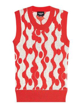 gemusterter-ärmelloser-pullover-aus-baumwolle by calvin-klein-205w39nyc