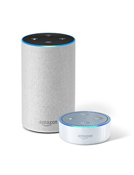 echo-(2nd-generation)-–-sandstone-fabric-+-echo-dot by amazon