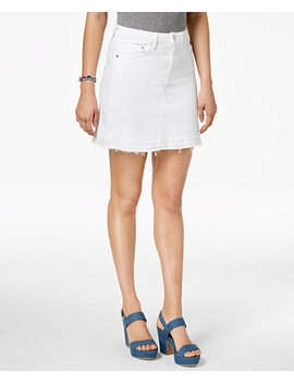 released-hem-denim-skirt by guess