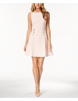 button-waist-a-line-dress by ivanka-trump