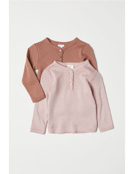 2-pack-pointelle-tops by h&m