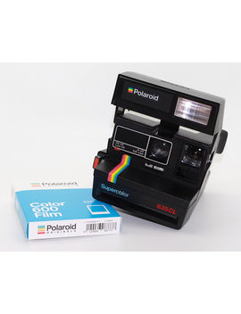 polaroid-supercolor-635cl-instant-camera-with-brand-new-polaroid-originals-600-film-and-box---very-good-condition---fully-tested by etsy