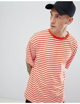 boohooman-oversized-t-shirt-in-orange-stripe by boohooman