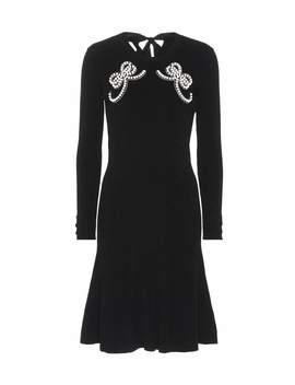 embellished-knit-dress by fendi