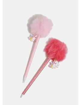 unicorn-charm-pom-pom-pen by miss-a