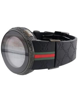 black-new-mens-custom-full-i-digital-ya114207-diamond-4ct-watch by gucci