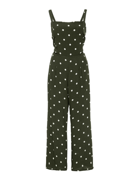 Playa Cropped Polka Dot Jumpsuit by Faithfull