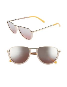 trench-54mm-aviator-sunglasses by burberry