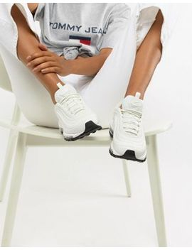 nike-white-and-black-leather-air-max-97-trainers by nike