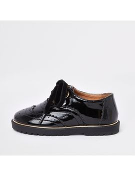 mini-girls-black-eyelet-patent-brogues by river-island