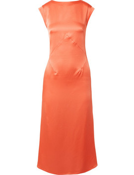 washed-satin-midi-dress by tome