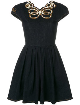 denim-pearl-embellished-dress by fendi