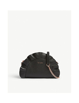 roseeyy-ruffled-grained-leather-cross-body-bag by ted-baker