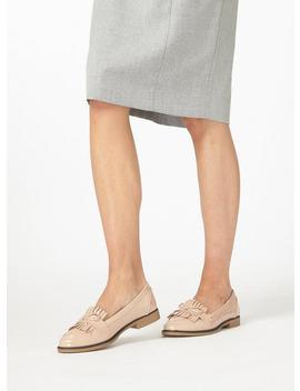 nude-patent-'lotta'-loafers by dorothy-perkins