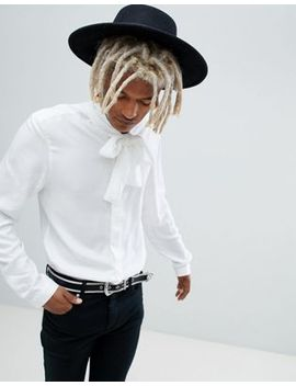 asos-edition-regular-fit-shirt-with-pussy-bow by asos-edition