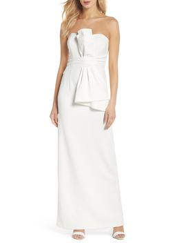 strapless-bow-column-gown by adrianna-papell