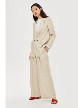 Linen Mix Jacket by Topshop