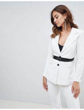 elliatt-striped-with-belt-blazer by elliatt