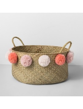 seagrass-pom-basket---natural_pink---opalhouse by opalhouse