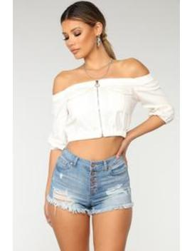 leading-the-troops-off-shoulder---white by fashion-nova