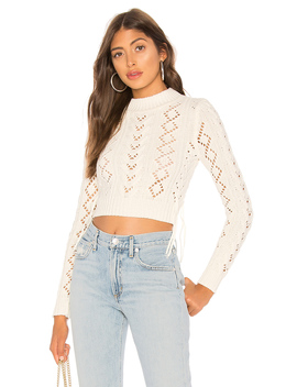 lace-up-crop-sweater by lovers-+-friends