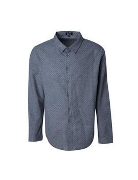 big-and-tall-polka-dot-long-sleeve-shirt by boohooman