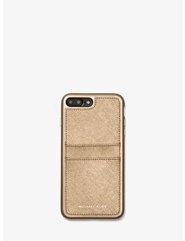 Étui-pour-iphone-7_8-plus-en-cuir-saffiano-métallisé by michael-michael-kors