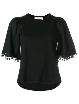 pom-pom-trim-t-shirt by see-by-chloé