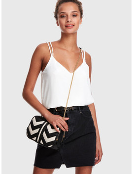 cross-back-solid-strappy-top by shein