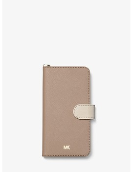 Étui-folio-pour-iphone-7_8-plus-en-cuir-saffiano-à-blocs-de-couleurs by michael-michael-kors