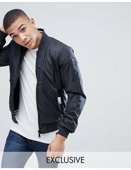 replay-logo-reversible-bomber-jacket-in-black by replay