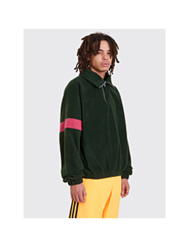 gosha-rubchinskiy-fleece-track-top-green by très-bien