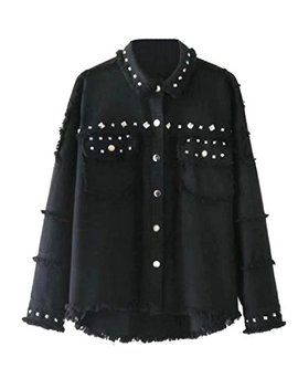 andyou-women-rockabilly-destroyed-boyfriend-beaded-denim-jacket by andyou-women