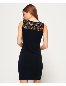 lace-trim-dress by superdry