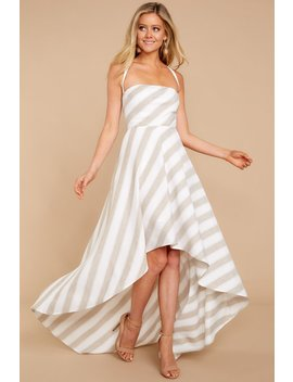 no-denying-it-beige-stripedhigh--low-dress by blithe