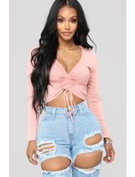 sierra-ruched-cropped-top---mauve by fashion-nova