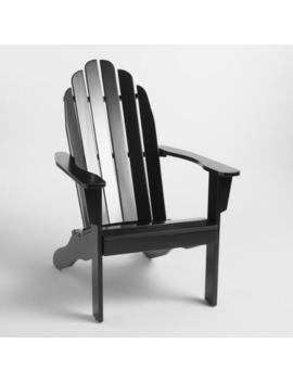 Black Wood Adirondack Outdoor Chair by World Market